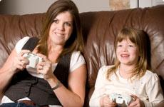Mum and daughter bonding